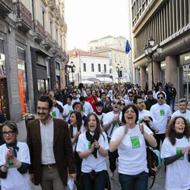 flash mob campagna elettorale scalzo luoghideali